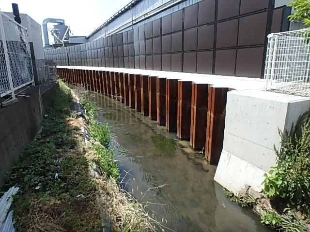 水路改修工事に伴う修正設計