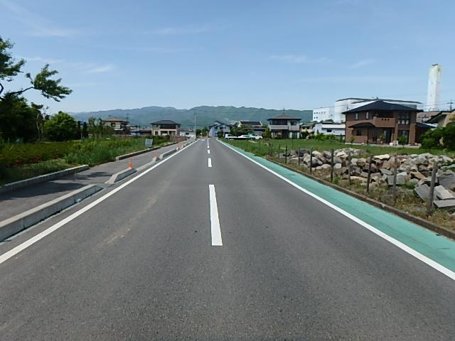 日之城地区農道1号県道交差点設計